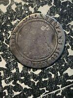 (1560-1561) Great Britain Shilling Queen Elizabeth Lot#JM1264 Silver! S-2555