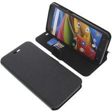Tasche für Archos 55b Cobalt Lite Book-Style Schutz Hülle Handytasche Schwarz