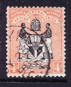NYASALAND BCA 1895 SG23 4d black & reddish buff - no wmk - fine used. Cat £50