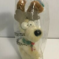 GARFIELD Odie Dog Reindeer Holiday Stuffed Toy Plush McDonald's Happy Meal 1978