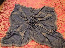 $2K ICONIC LUXE LORO PIANA grey/beige sheer ornamental print cashmere/silk shawl