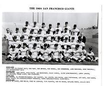 1969 SAN FRANCISCO GIANTS 8x10 PHOTO MAYS MCCOVEY TEAM CALIFORNIA BASEBALL