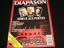 DIAPASON FRENCH MAGAZINE<> JULY 1991  #373 <> KEMPFF*SERKIN*ARRAU