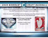 Box Break 2020 Bowman Draft Jumbo Hobby Box 1 Random Team 1 Box+Extras 12-9-20