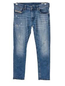 Diesel THAVAR Blue Slim Skinny Fit Ripped Distressed Jeans W31 L32