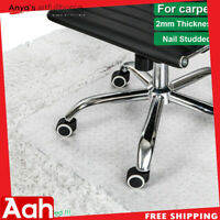 "PVC Home Office Desk Chair Mat w/ Nail for Carpet Protection Floor Mat 48"" x 36"""