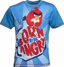 BORN TO BE ANGRY | ANGRY BIRDS T-Shirt Kids Age 7-8 Years Angry Bird Shirt