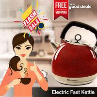1.8L Cordless Safe Electric Jug Kettle Fast Rapid Boil Marble Effect 2200W UK