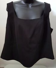 Susan Lucci NWT Woman's Plus Black Lined Sleeveless Shirt Size 22W