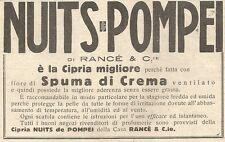 W7327 Cipria NUITS DE POMPEI - Pubblicità del 1932 - Old advertising