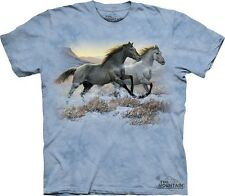 "NEW - The MOUNTAIN T-Shirt ""Running Free""  Wild Horses Adult Size XXXL"