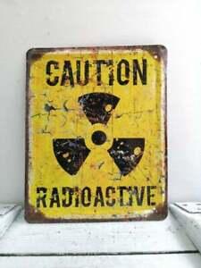 Vintage Look Radioactive Sign Chernobyl Zone Safety Warning Sign Danger Sign #4.