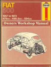 """FIAT 500,500D,500F,500L,GIARDINIERA,SPORT HAYNES MANUAL 1957-1973 """"HARDBACK"""""""