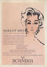 1960 Scandia make up PRINT AD art deco