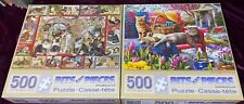Lot 2 Bits And Pieces 500 Piece Jigsaw Puzzles Barbara Behr Lots Of Cats Spring