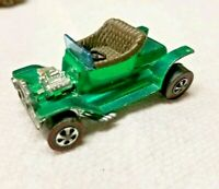 VINTAGE 1967 HOT WHEELS REDLINE HOT HEAP HONG KONG (GREEN) NICE ORIGINAL