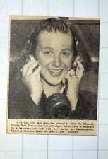1949 Shirley May France Us Schoolgirl Two-way Radio Talk After Channel Swim Try