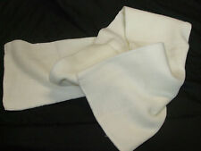ACRYLIC SCARF, WHITE IN COLOR APROX 140CM LONG VERY WARM