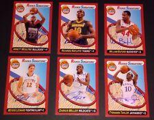 2012-13 Fleer Retro Rookie Sensations Autograph 6 Card Basketball Lot RC NrMt-Mt