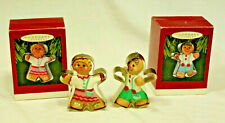 2 Hallmark Keepsake Cookie Cutter Ornaments - Clever Cookie & Ready for Fun 1993