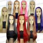 Lace Front Heat Resistant ALL COLOR Straight Long Cosplay Wigs