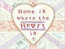 Home is Where the Heart is. Cute New House Gift Small Metal/Steel Wall Sign