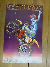 "ORIGINAL 1983 MOTOCROSS Poster by McIntire "" Knight in Armor Rider"" 24"" x 36"""
