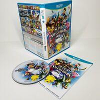 Super Smash Bros. (Nintendo Wii U, 2014) Complete With Manual Tested WORKS