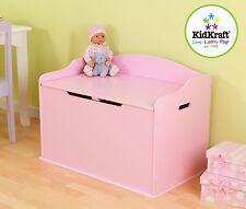 Kidkraft Austin Wooden Toy Box in Pink - Kids Wooden Toy Chest Toy Box