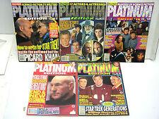 Set of 5 Starlog Platinum Edition Magazine Vol 1-5-Star Trek/Picard/More (L8914)