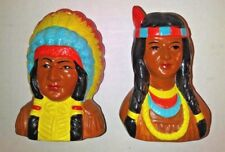 American Indian Head Salt & Pepper Shaker made by Our Own Import Japan   #1