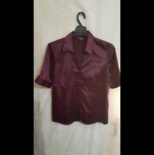 Women, aubergine blouse short sleeves Reitmans Sz. L pre-owned