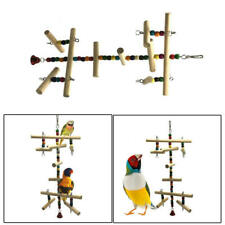 Birds Parrot Perches Cage Playing Toy Wooden Climbing Stairs Toys Play Fun sdf