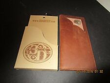 3D Belt Company Brown Western Rodeo Wallet with Concho Inlay Corner W775