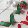 Green Grosgrain Wired Christmas Craft Ribbon 2.5 in 10 yards r3604239  NEW RAZ