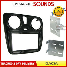 CT23DC05 Piano Black Stereo Double Din Fascia Panel For Dacia Dokker Lodgy 2012