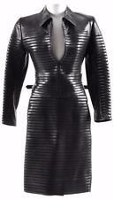 Ultra-Rare! Jitrois France Black Lambskin Leather Cafe Racer Jacket/Skirt 38/4