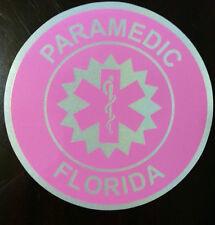 Paramedic decal - PINK Florida Paramedic decal - reflective lettering