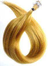 Mikrorings Haarverlängerung Remy Echthaar Strähnen 45cm glatt blond microrings