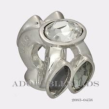 Authentic Chamilia Sterling Silver Black & White Splendid Marquis Bead 2083-0458