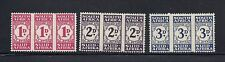 SOUTH AFRICA 1943-44 POSTAGE DUES Scott J31-33 MH