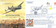 PP9 AVRO Manchester RAF FDC signed HUNT DFC + JACKSON DFC