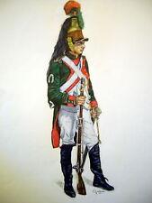 C1 DESSIN Couleurs DRAGON EN PIED - JULLIAN Napoleon GRAND FORMAT 50 X 65 cm