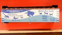 Train Miniature HO Vintage NIB Gerber Billboard Wood Reefer
