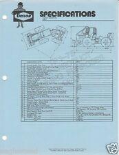 Equipment Brochure - Taylor - S-81U S-112 S-112U Skidder Logging 3 items (E1262)