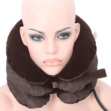 Air Inflated 3-Layers Cervical Vertebra Tractor Neck Headache Massage Home Relax
