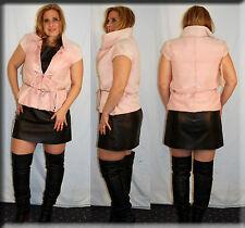 New Oscar De La Renta Pink Sheared Mink Fur Vest Size Small 4 6 S - Efurs4less