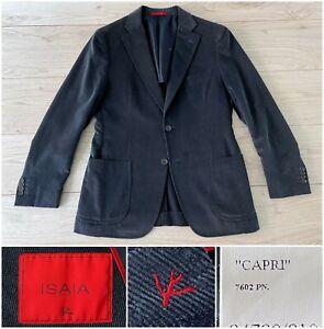"""$4150 Isaia Cotton & Cashmere Patch Pocket """"Capri"""" Corduroy Jacket, 40R 50R 38R"""