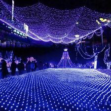 LED Lichternetz Lichtervorhang Weihnachtslichterkette Lichterketten Außen Xmas