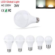 Replacement E27 LED Global Light Bulb Lamp 3W Energy Saving Warm White AC 220V